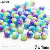 Isywaka 3X4mm 30,000pcs Rondelle Austria faceted Crystal Glass Beads Loose Spacer Round Beads for Jewelry Making NO.02