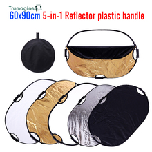 Free shipping 60x90cm Photography reflector 24x35 5in1 Light Mulit Collapsible Portable Photo Reflector Studio Lighting Control
