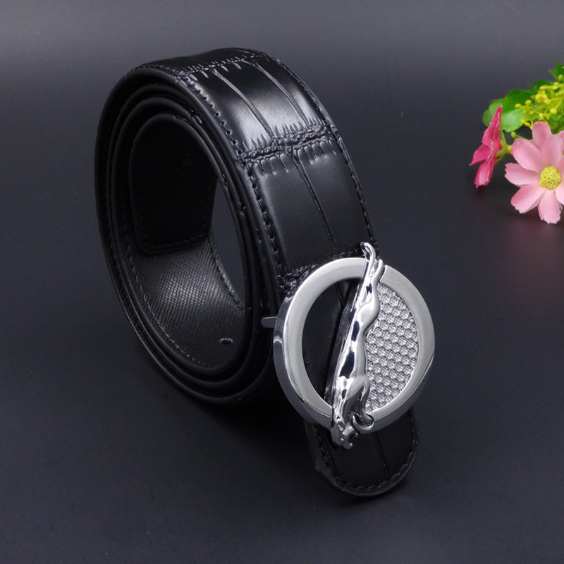 2018 Leopard Buckle Genuine Leather Men Belts Business Casaul Belt Black Jeans Belts Quality Guarantee QD021