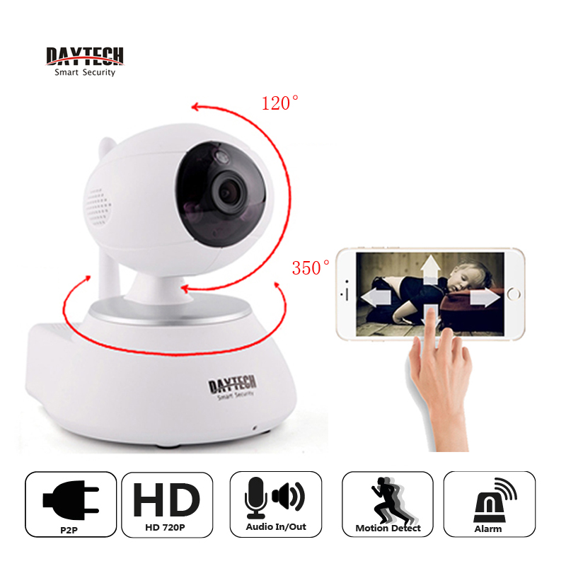Daytech WiFi IP Camera Home Security Camera 720P Night Vision Infrared Two Way Audio Baby Monitor Wireless Network DT-C8818