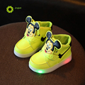 JRQIOT 2017 Autumn Children Shoes With LED Light Solid Careoon Boys Shoes Winter Dot Sport Girls Sneakers Kids Shoes