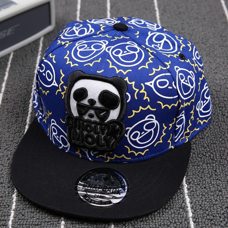sports ski hats casual cotton cute panda font baseball caps fashion kids brand