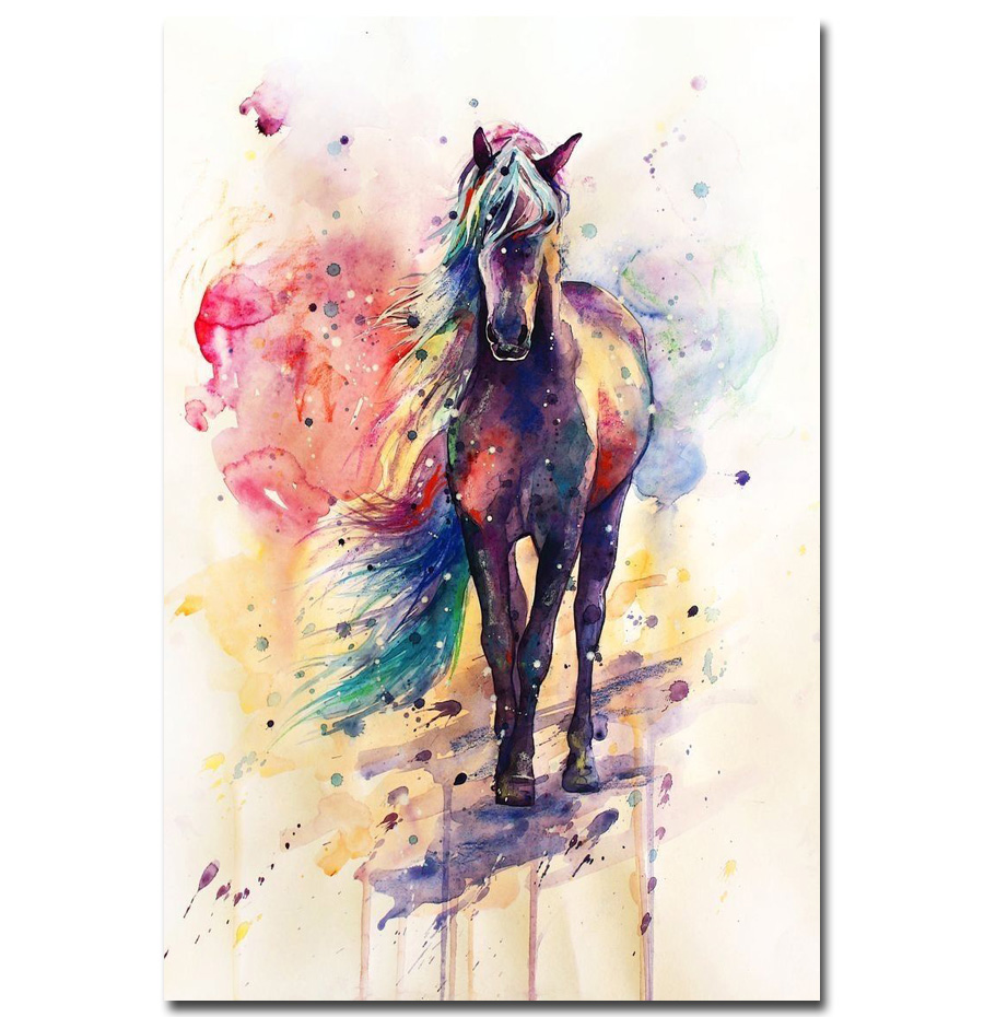 89 Best Whats New In Wallpaper Paint Fabric Images On: J3240 HORSE WATERCOLOUR IMAGEGloss Laminated Pop 14x21