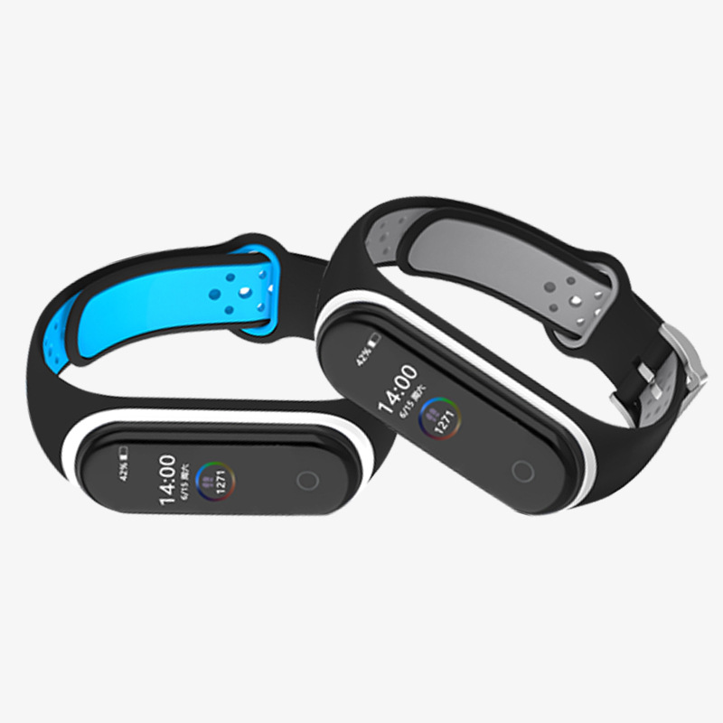 For Xiaomi Mi Band 4 3 Strap Smart Accessory Replacement Double Color Silicone Bracelet For MiBand 4 3 M3 M4 NFC Wrist Strap