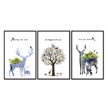 Factory wholesale (No Framed) Elk series poster Canvas Print On Printing Wall Pictures 12YM-A-692