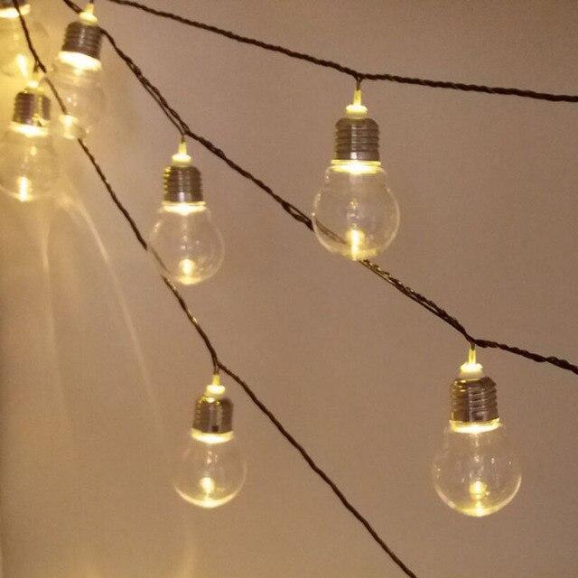 Nouveauté 5 cm 38 Boules Noir Fil LED Guirlande Lumineuse Guirlande