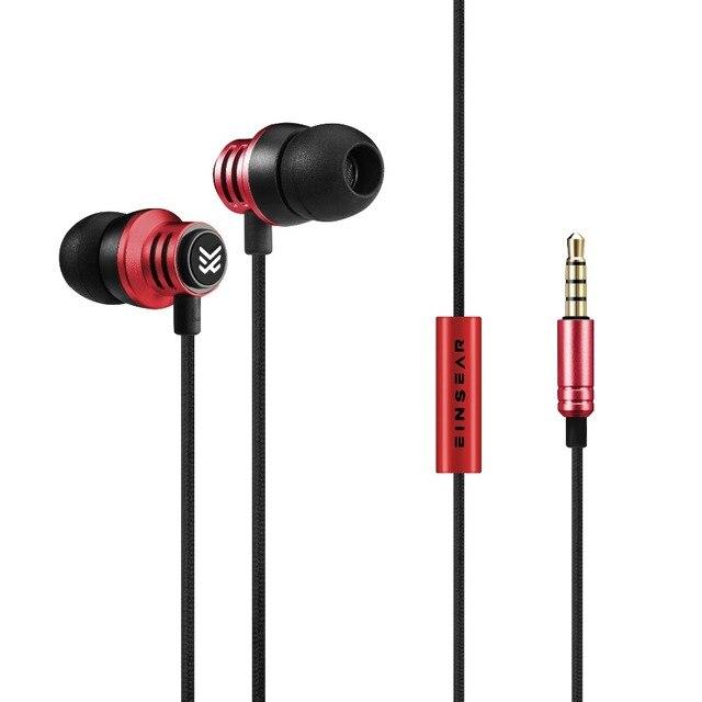 Original EINSEAR T2 In Ear Earphone 3.5MM Stereo In Ear Headset Dynamic Earbuds Aerospace aluminum alloy Earphone