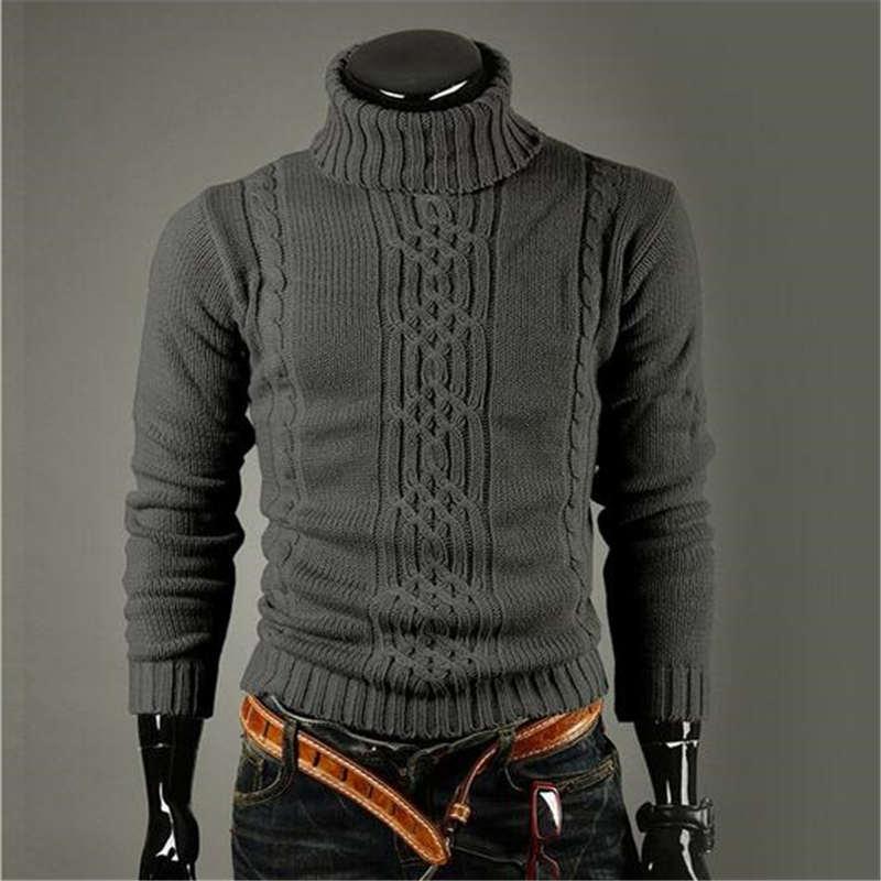 2015 otoño invierno hombre jersey de punto Casual suéter