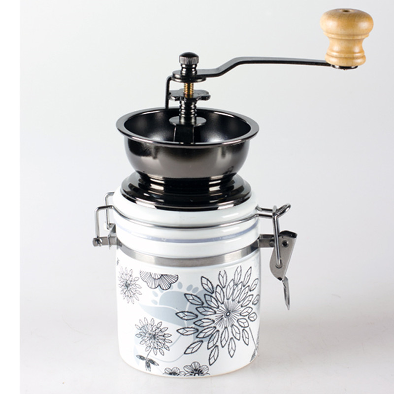 Jade White Ceramic Handset Mill Manual Coffee Bean Grinding Machine Tool High Quality Coffee Grinder esspero i nova white coffee