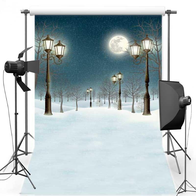 8x12ft Vinyl Photography Background Christmas Theme Backdrops Light For Children snow for photo studio free shipping ST-328