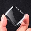 Pomer ultra delgada de cristal de plástico duro caso protector de la contraportada transparente para apple watch series 2 38mm 42mm al por menor paquete