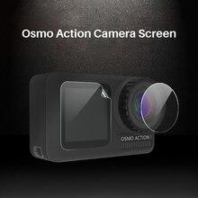 3 stks/set Beschermende Film voor Dji Osmo Action Gehard Glazen Front Back Screen Lens Beschermende Film voor osmo Action Accessoires