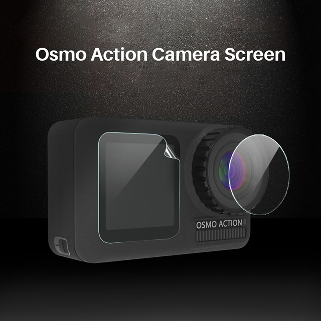 3PCS/Set Protective Film for Dji Osmo Action Tempered Glass Front Back Screen Lens Protective Film for osmo Action Accessories