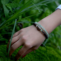 Moda 2016 do vintage Contas Dzi Tibetano pingente de Colar pulseira artesanal pedra natural jóias envoltório charme Pulseiras para as mulheres