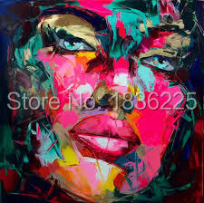 no framed 100handmade high quality modern faces figure oil painting for wall decoration abstract