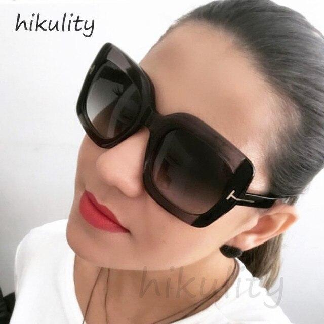88101 Surdimensionné Rectangle Noir lunettes de Soleil Femmes 2018 Marque  De Luxe Vintage Dames Shades Rétro 96ca1dfbf7a2