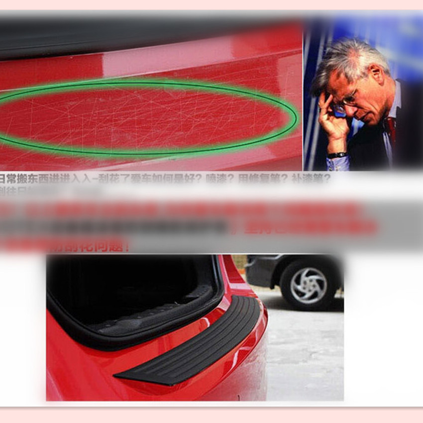 Car Styling Rear Bumper Protection Rubber Sticker For