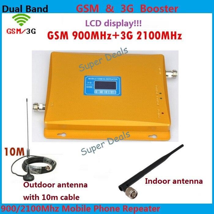Dual Band Ripetitore GSM 900 mhz 3g Ripetitore Del Ripetitore Display LCD del segnale cellulare ripetitore WCDMA 2100 cellulare gsm Ripetitore