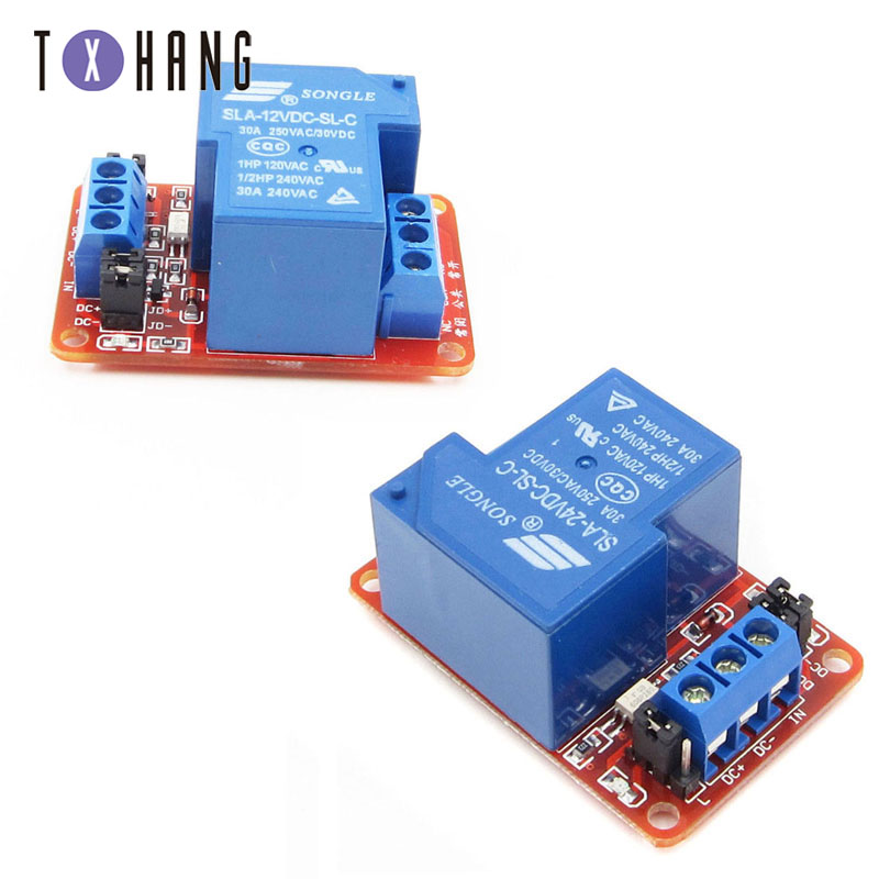 DC 5V <font><b>12V</b></font> <font><b>24V</b></font> 30A relay module with optocoupler Relay Output relay module for <font><b>arduino</b></font> In stock image