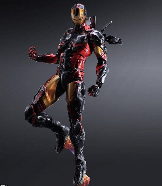 Iron Man Action Figure Toys Play Arts Kai Iron Man Collection Model Brinquedos 250MM PLAY ARTS Iron Man PVC Action Figure PA22 metal gear solid v the phantom pain play arts flaming man action figure super hero