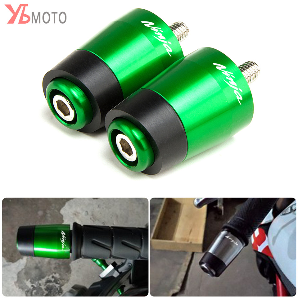 For KAWASAKI NINJA 250 300 400 500R 600R 750R ZX10 ZX12R ZX6R ZX9R ZX14R Z750 Z1000 Motorcycle Handlebar Grips Ends Accessories