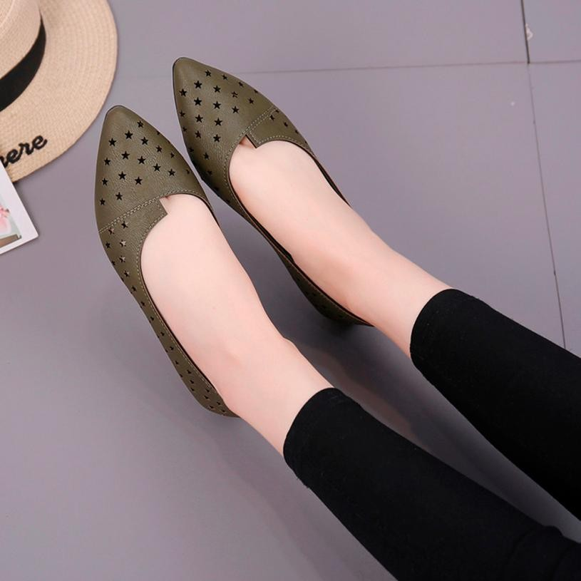 Casual Moda Mujer Green Redonda Planas rojo Loafer negro blanco Sólidos Mujeres Tapa Señora Sandalias Zapatos Army En Estrella Resbalón Plana Zapatillas Agradable UqfnUXxwZ8