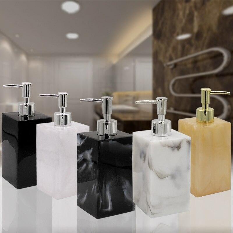 Resin Hand Sanitizer Lotion Bottle Shower Gel Shampoo Press Bottle Bathroom Supplies Portable Soap Bottle O002