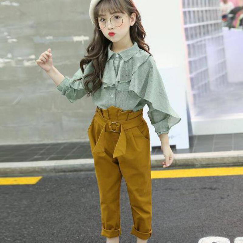 Toddler Girls Clothing Sets 2018 Autumn Children Girls Clothes Christmas Outfits Kids Girls clothes Blouses Shirts + Pants 10 12 ad children s mickey thick sets 2 10 age cotton sweater pants boys girls christmas t shirts trousers kids clothing clothes