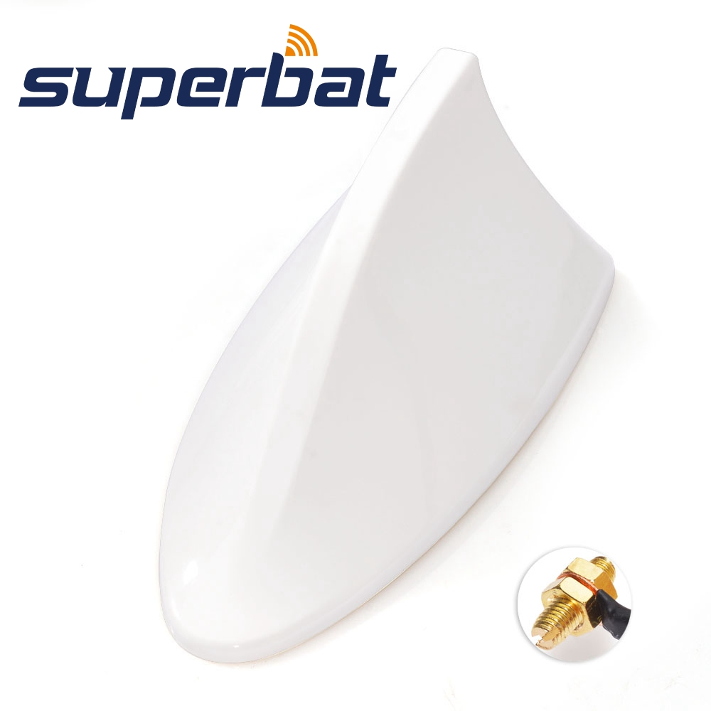 Superbat Universal Automobile Car/Vehicle ABS Roof Radio AM/FM Signal Shark Fin Style Aerial Antenna AU (White)