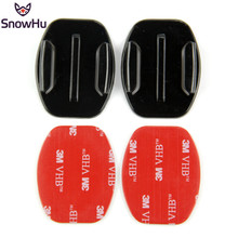 SnowHu for Sport Camera Accessories Base 2X Flat mount VHB Adhesive Sticky GoPro Hero 7 6 5 4 SJ4000 Xiaomi yi GP12