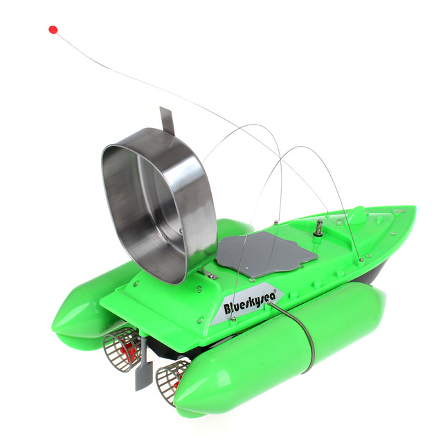 Blueskysea Updated T10 Fishing Bait Boat RC lure fish boat 8hours/9600MAH RC Anti Grass Wind Remote Control+9600mAh Battery
