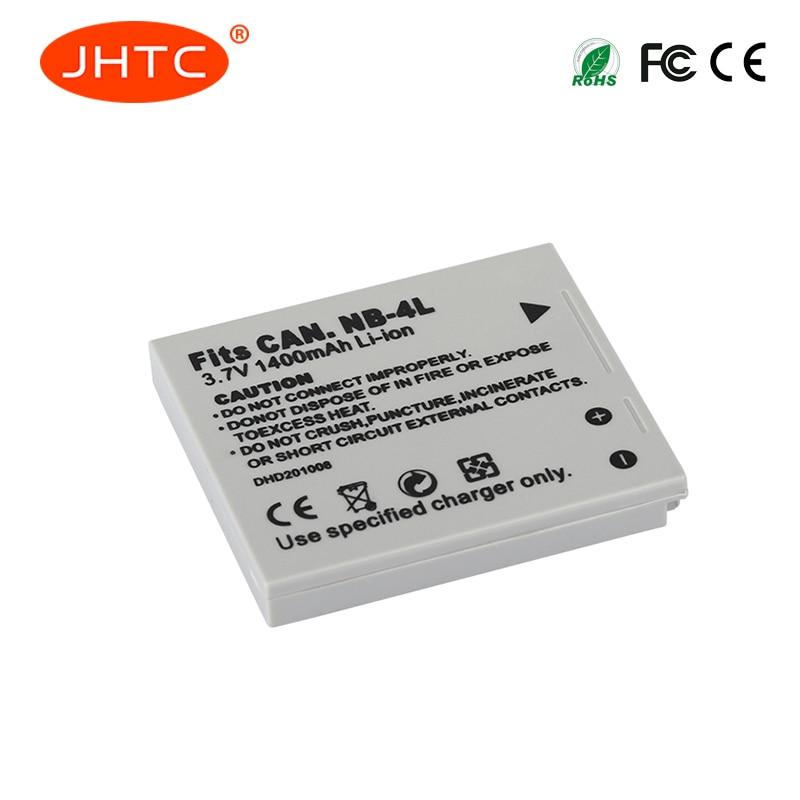 JHTC 1Pc 1400mAh NB-4L NB4L NB 4L Batteries For Canon IXUS 30 40 50 55 60 65 80 100 I20 110 115 120 130 IS 117 220 225 230 255 H