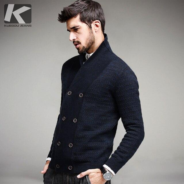 2017 весенние мужские Модные свитеры в полоску из 100% хлопка синий вязаный кардиган вязание брендовая одежда человека трикотаж Sweatercoats