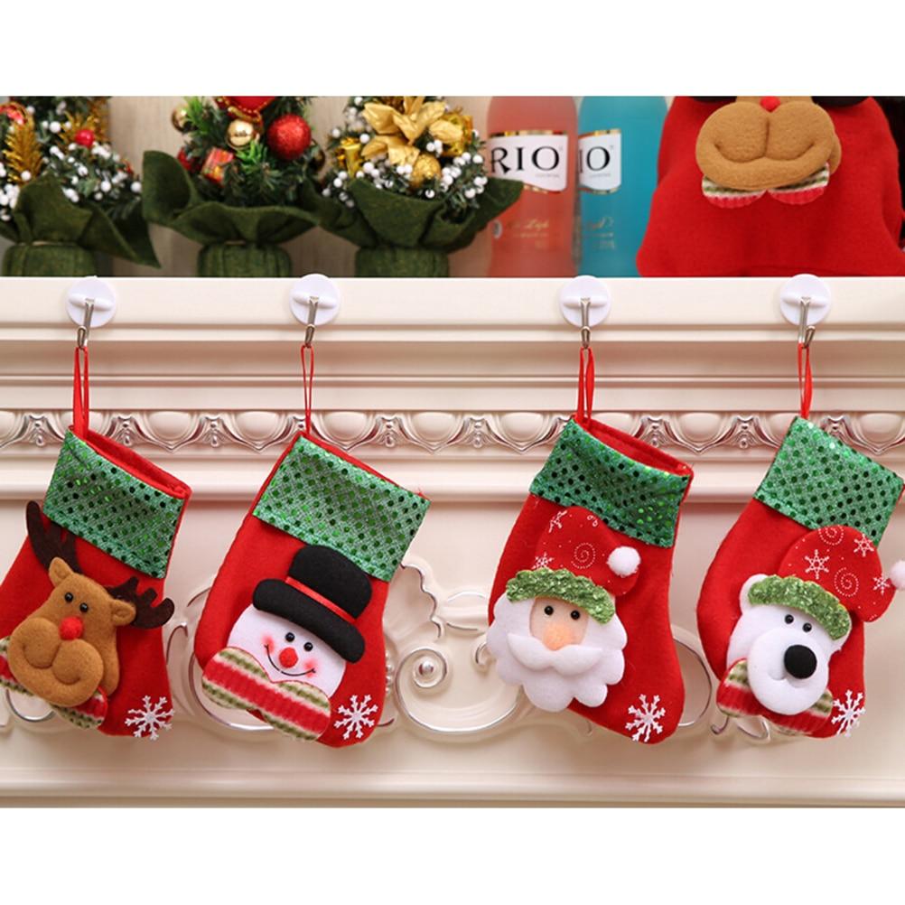 Babbo Natale A Casa Dei Bambini.Us 0 76 18 Di Sconto Piccole Paillettes Calza Di Natale Decorazioni Di Natale Sacchetto Della Caramella Del Regalo Dei Bambini Calze Babbo Natale