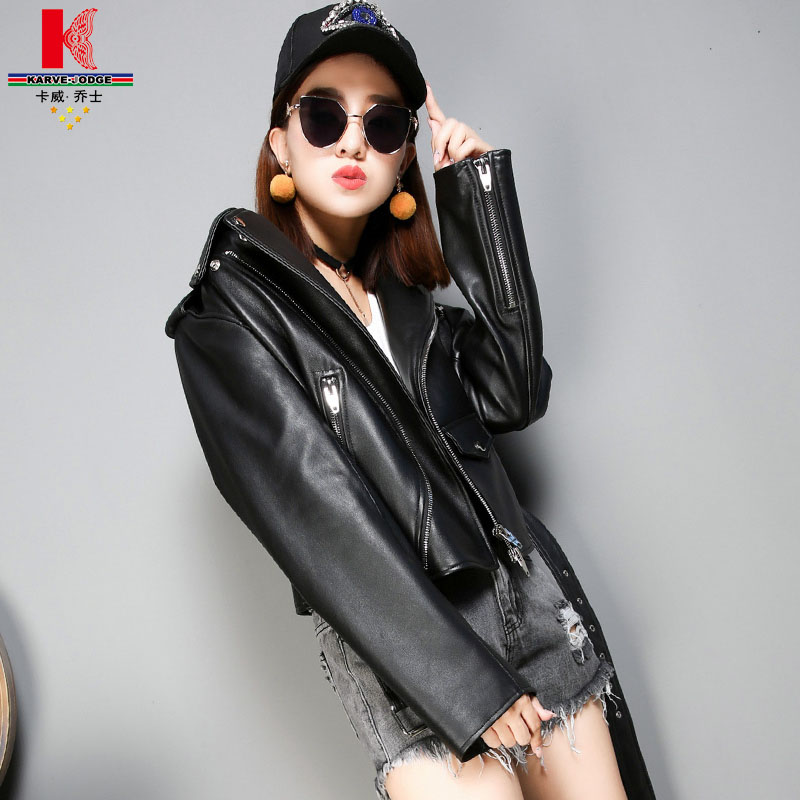 Girls Leather Jacket Designer Leather Jacket With Fur Collar Womens Fitted Gray Cool Cognac Tan Leather Motorcycle Jacket