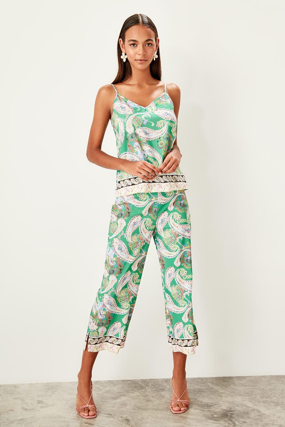 Trendyol Multicolour Pattern Pants TWOSS19PL0092