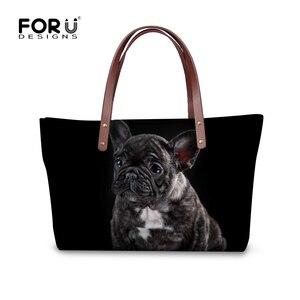 Image 3 - FORUDESIGNS Boston Terrier Handbags Women Hand Bags Designer Famous Woman Large Tote Beach Bag for Ladies Shoulder Dropshipping