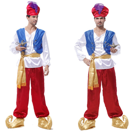Halloween Arabia King Dress Costume Cos Male Adult Aladdin Prince Lantern Cosplay Costume For Man Women