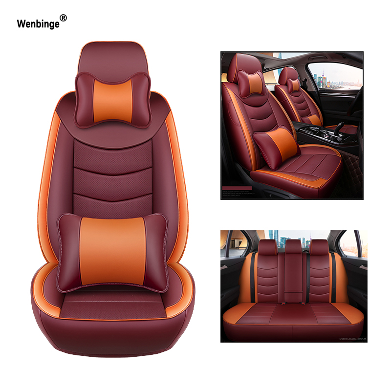 Wenbinge automobiles Cowhide leather car seat cover For lexus nx GS300 RX450h IS250 LS LX ES CT200H covers for vehicle seat