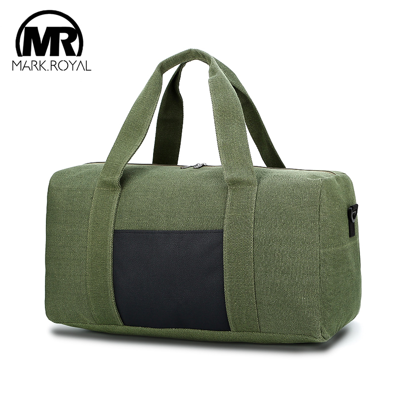 MARKROYAL Men Canvas Travel Luggage Bags Tote Large Capacity