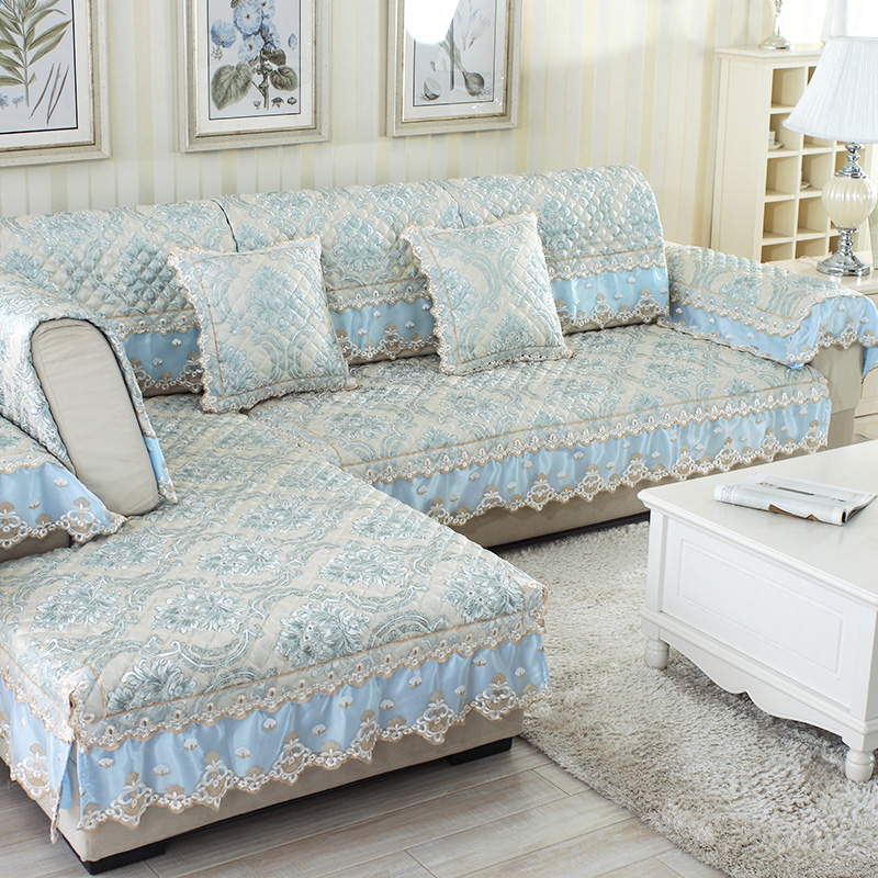 Linen Sofa Slipcover Antique Leather Ireland European Lace Cover Towel Couch Slip Combination For Corner Seat