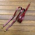 Nueva brown correa de cuero de vaca Mujeres hombres retro británico tri-clamp tirantes tirantes tirantes de piel de la cabeza de ancho 2 CM envío gratis