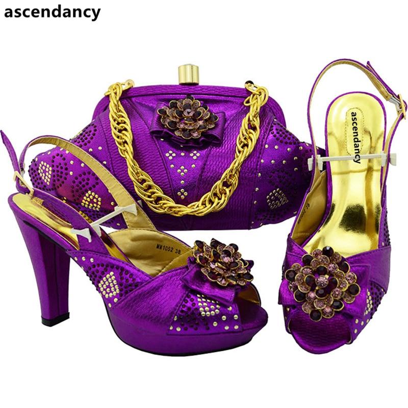 Chaussures Nouvelle purple Africain Femmes Arrivée Vert orange Sacs En Ensemble Dans vert Italien argent Assorties Et Sac wine Mis Italie blue Ensembles 2017 Champange xwgxAq