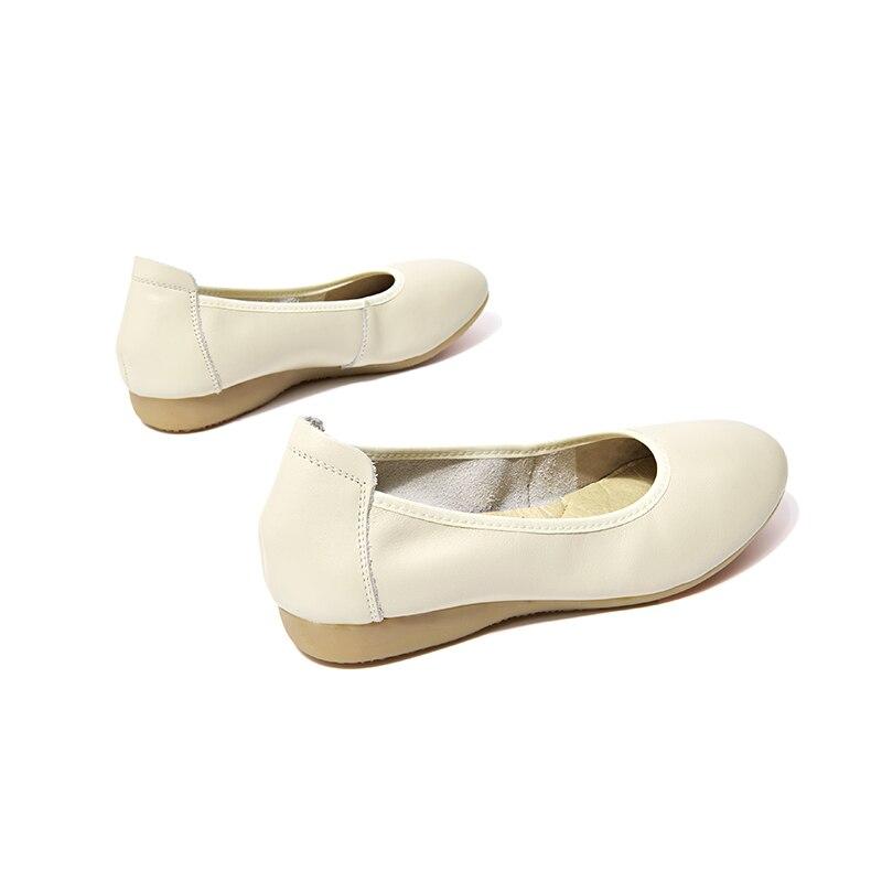 Véritable Sur Beautoday En Dames Handmade15006 Cuir Vache Chaussures Bureau Bout Slip Rond Femmes De Beige Travaillent Nappa black 7wqtr8Cx7