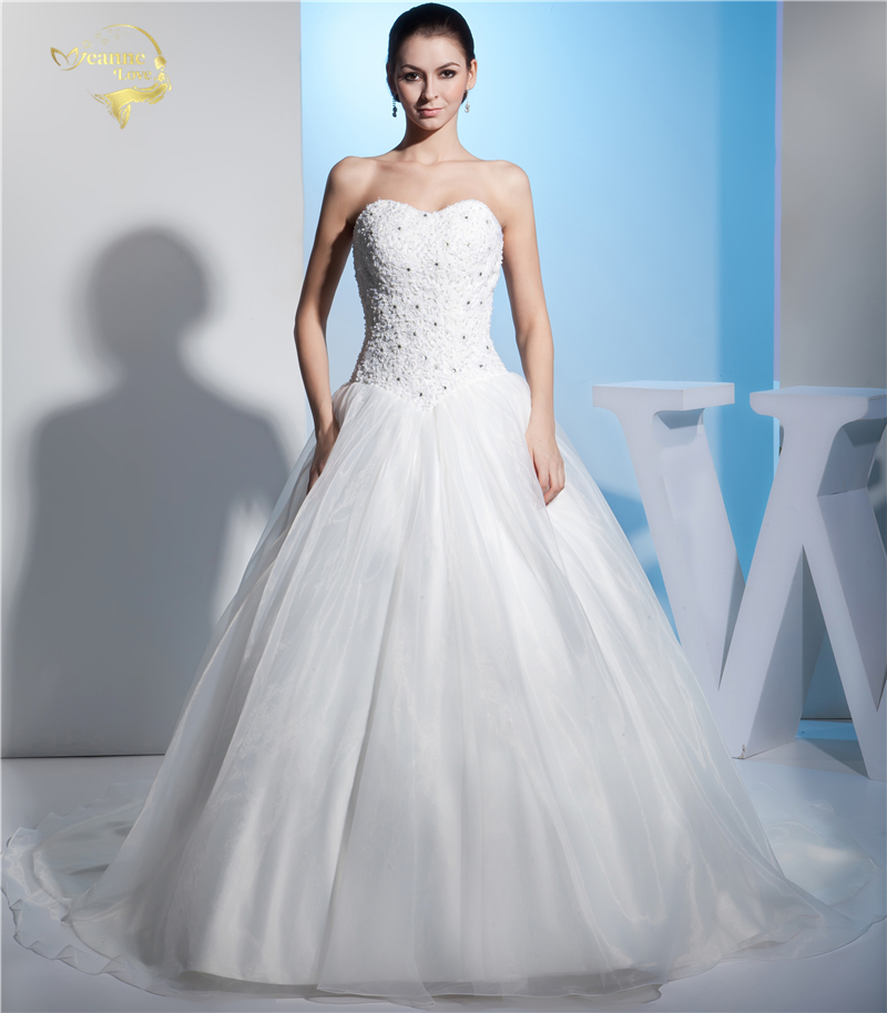 Jeanne Love Royal Sweetheart A Line Wedding Dresses 2019