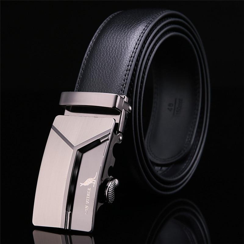 Men's Genuine Leather Belt High Quality New Designer Belts Men Luxury Strap Male Waistband Fashion Vintage Buckle Belt for Jeans 1