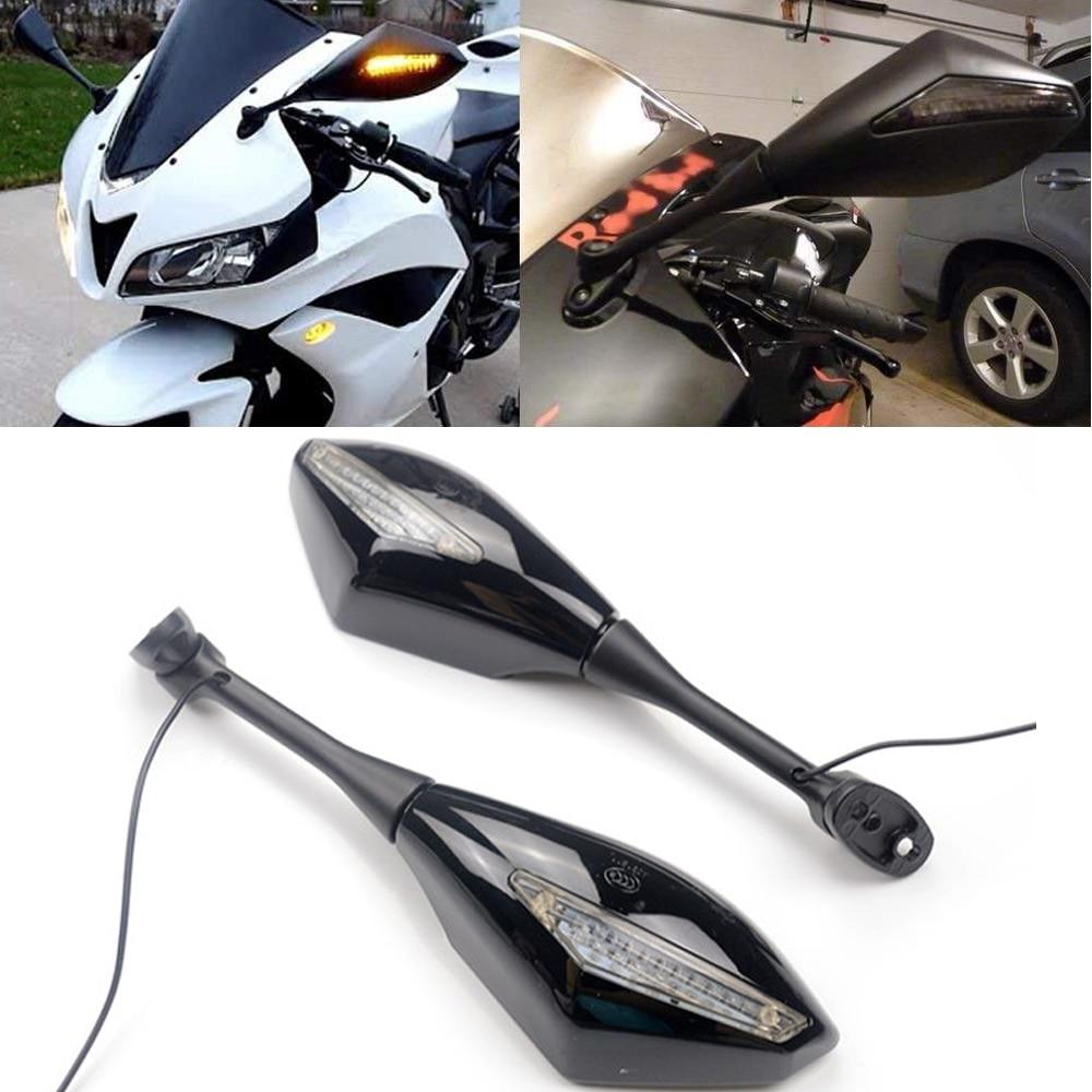 1 пара мотоциклетных поворотников, боковые зеркала заднего вида для Honda CBR 600 RR 2003-2014 CBR1000RR 2004 2005 2006 CBR 250R 500R