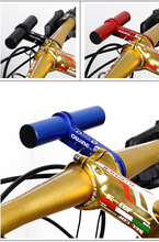 Cycling Extender Handle Bar MTB Lamp Holder Handlebar Extension Light Flashlight Bicycle Stopwatch 31.8/25.4mm