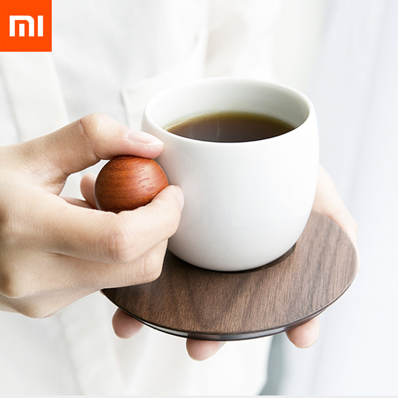 Xiaomi Mijia Planet Coffee Cup Exquisite Ceramic Porcelain Wooden Cup with Cup Mat Holder 2 Pcs lot/4 Pcs lot for Drink Cafe  Xiaomi Mijia Planet Coffee Cup Exquisite Ceramic Porcelain Wooden Cup with Cup Mat Holder 2 Pcs lot/4 Pcs lot for Drink Cafe