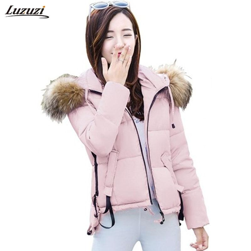 204d4764c 1PC Winter Jacket Women Fur Hooded Parka Short Coat Women Jaqueta ...